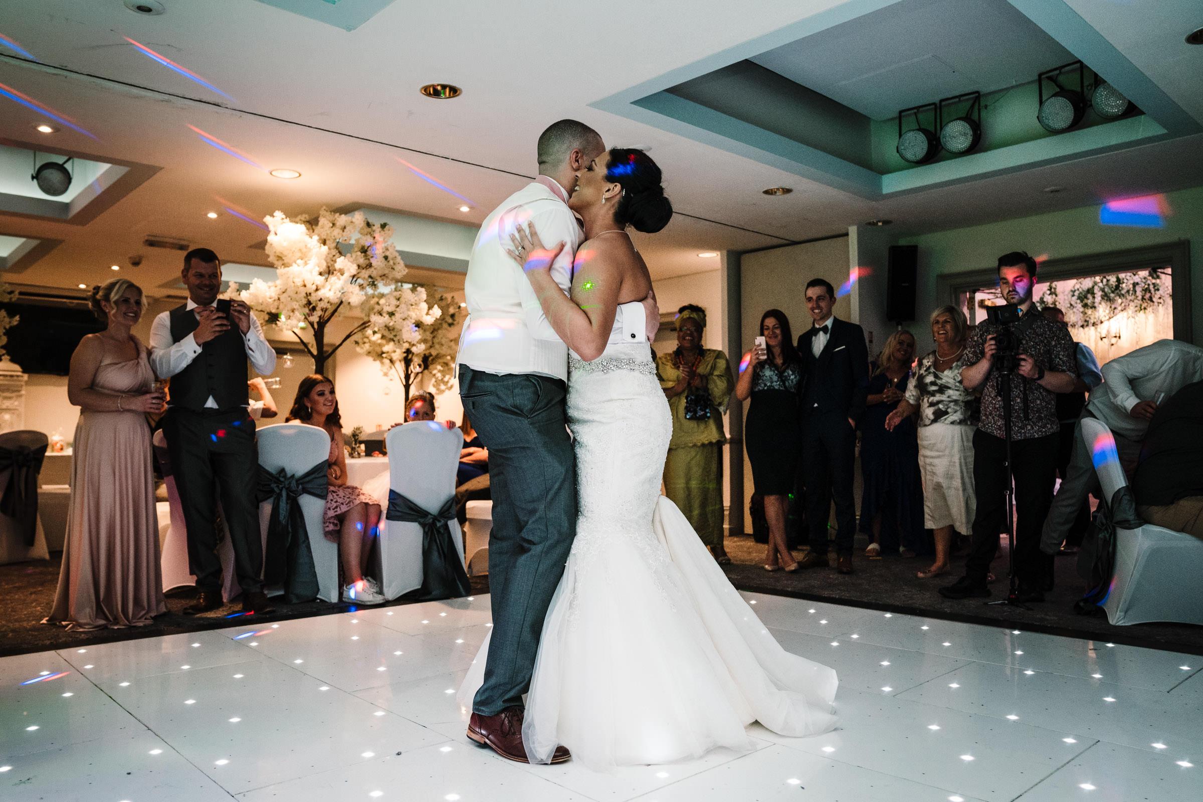 bride & groom first dance, nailcote hall wedding