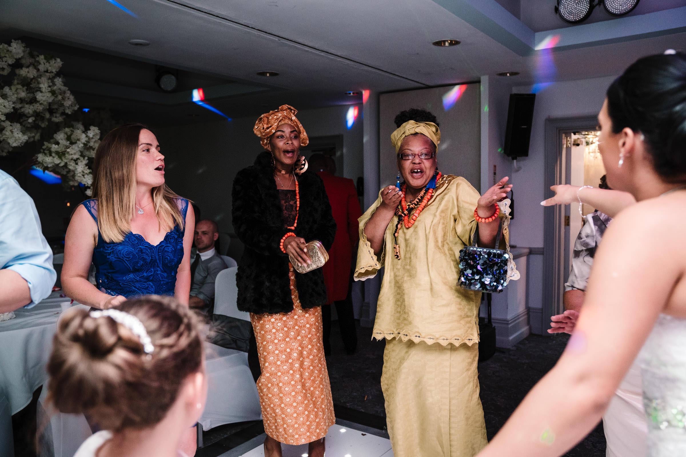 guests dancing at nailcote hall wedding