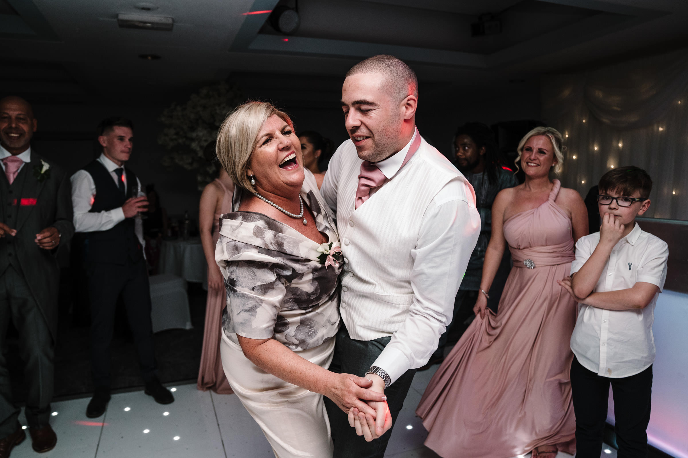 groom dancing with mother of the bride, nailcote hall