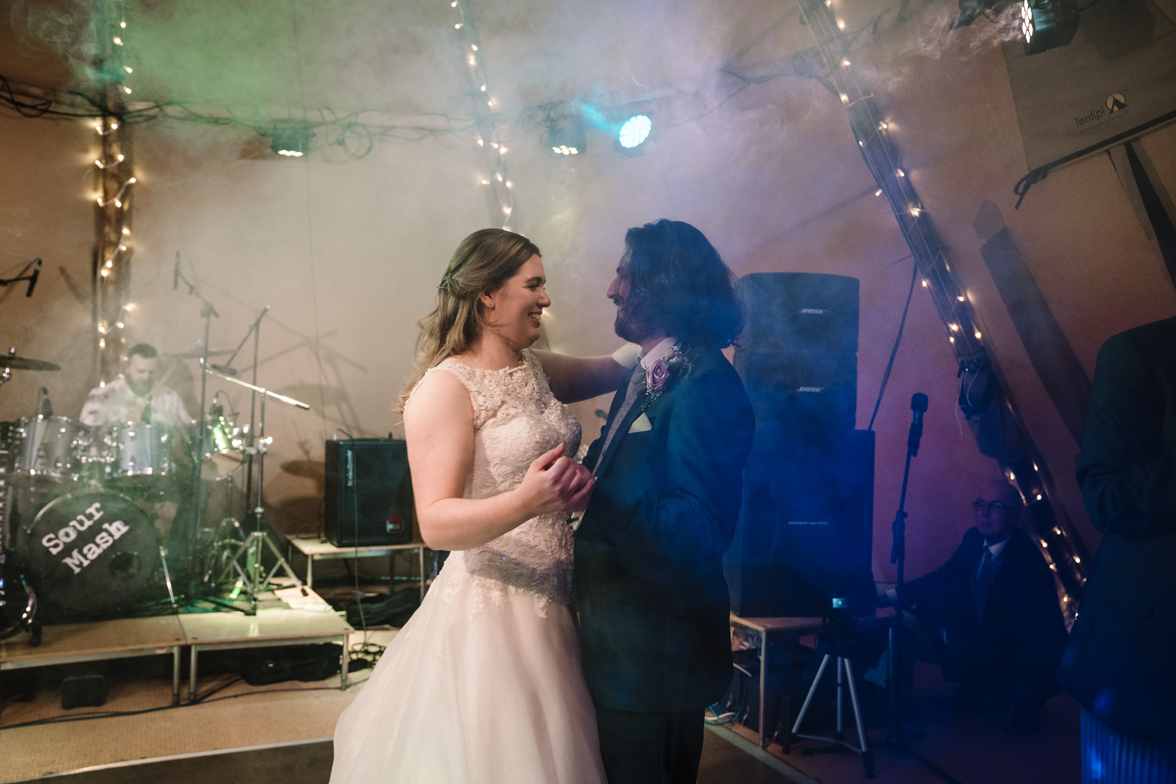 bride and groom dancing at tipi wedding, castle bromwich