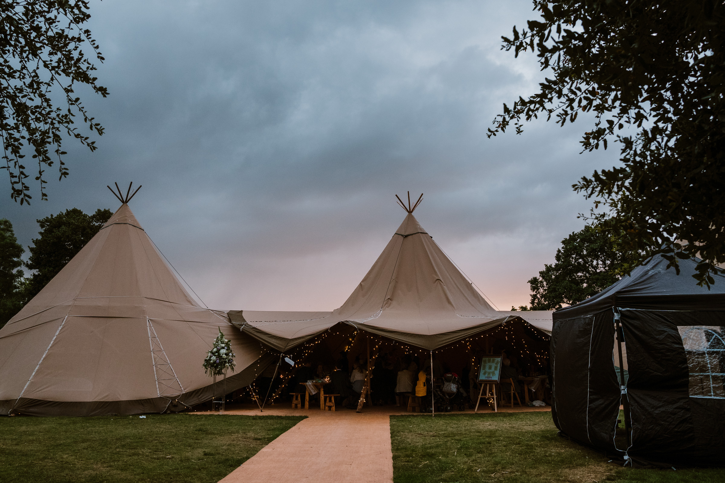 Tipi at Castle Bromwich hall gardens