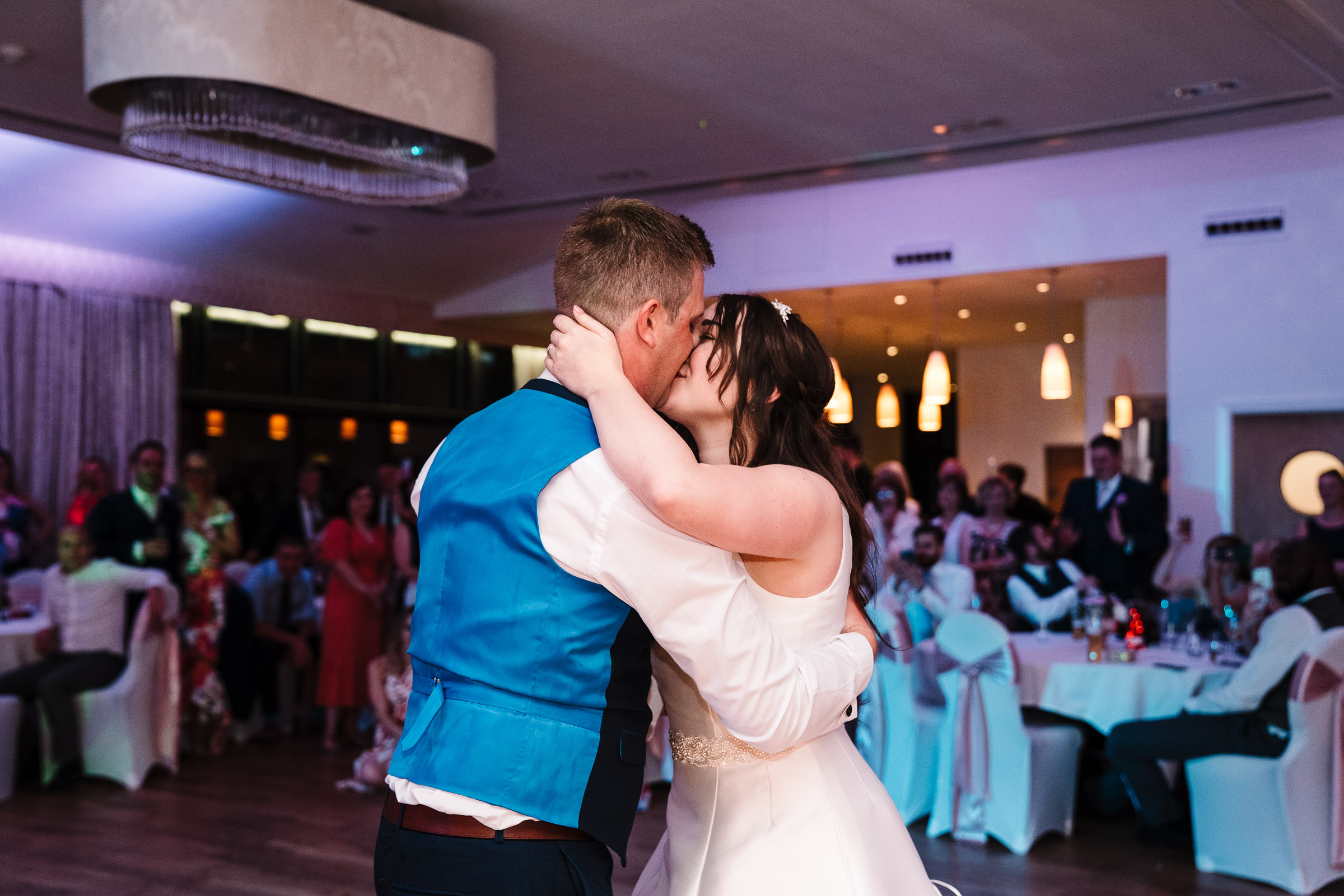 bride and groom first dance at wood norton