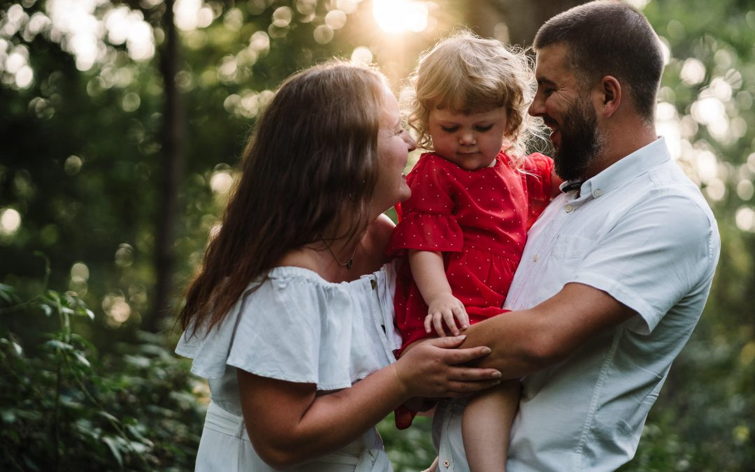 Sunset, Family Photoshoot | Amy & Ben